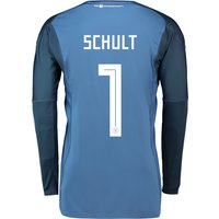 Germany Home Goalkeeper Shirt 2018 with Schult 1 printing