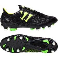 Warrior Sports Gambler K-Lite Soft Ground Football Boots-Black/Jazz Green Black