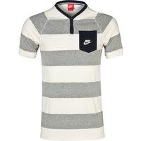 Nike GF Y-Neck Henley Top Dk Grey