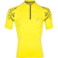 Asics Inner Muscle Half Zip Top Yellow