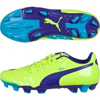 Puma evoPOWER 4 Firm Ground Football Boot - Kids Yellow