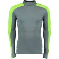 Adidas TechFit Climaheat Mock Baselayer - Long Sleeve Dk Grey