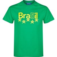 Brazil 5 Star T-Shirt Green