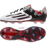 Adidas Messi 10.1 Firm Ground Football Boots - Kids White