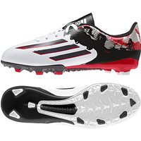 Adidas Messi 10.3 Firm Ground Football Boots - Kids White