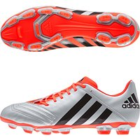 Adidas Pred Incurza TRX Firm Ground Rugby Boots Silver