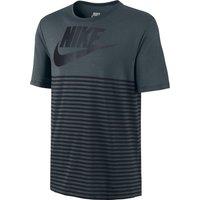 Nike Mesh Stripe T-Shirt Dk Grey