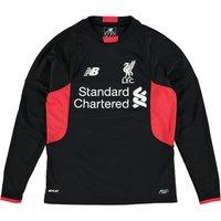Liverpool Home Goalkeeper Shirt 2015/16 - Long Sleeve - Kids Black