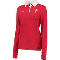 Wales Rugby Long Sleeve Jersey - Womens Red