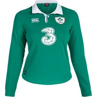 Ireland Rugby Home Classic Long Sleeve Shirt 15/16 - Womens