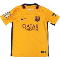 Barcelona Away Shirt 2015/16 - Kids Gold