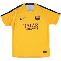 Barcelona Pre Match Top - Kids Yellow