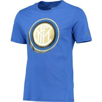 Inter Milan Core Crest T-Shirt Royal Blue