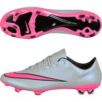 Nike Mercurial Vapor X Firm Ground Football Boots Lt Grey