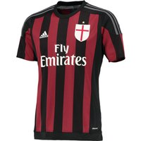 Ac Milan Home Shirt 2015/16 - Kids Black