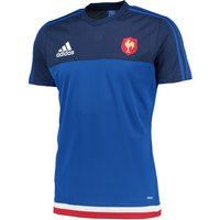 France Rugby Perf T-Shirt Royal Blue