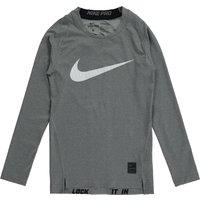 Nike Pro Combat Hypercool Baselayer Top - Long Sleeve - Kids Grey