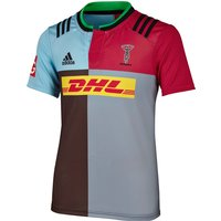 Harlequins Home Short Sleeve Shirt 2015/16 - Kids Dk Brown