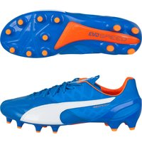 Puma evoSPEED 1 Leather Firm Ground Football Boots Royal Blue