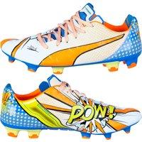 Puma Evopower 1.2 Graphic Pop Firm Ground Football Boots White