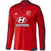 Olympique Lyon Away Shirt 2015/16 - Long Sleeve Red