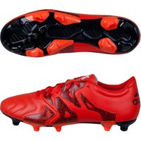 adidas X 15.3 Leather Firm Ground Football Boots - Kids Orange