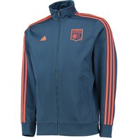 Olympique Lyon 3 Stripe Track Jacket Navy