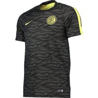 Inter Milan Flash Short Sleeve Training Top - Kids Black
