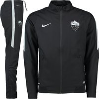 AS Roma Revolution Sideline Woven Tracksuit Black