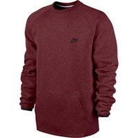 Nike Tech Fleece-1Mm Crew Sweater Red