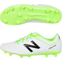 New Balance Visaro Control Firm Ground Football Boots - Kids White