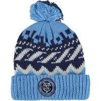 New York City FC Cuffed Knit Pom Hat Sky Blue