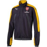 Arsenal Training Stadium Vent Jacket - Black/Yellow