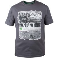 VfL Wolfsburg Cross T-Shirt - Grey - Mens