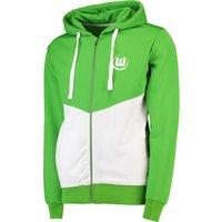 VfL Wolfsburg Shower Jacket - Green/White - Mens