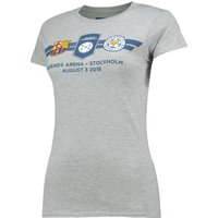 'Barcelona V Leicester City Icc Match Up T-shirt - Ladies - Grey