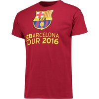 Barcelona 2016 Tour T-Shirt - Mens - Cardinal Red