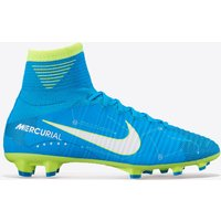 Nike Mercurial Superfly V Dynamic Fit NJR Firm Ground Football Boots - Blue Orbit/White/Blue Orbit/Armory Navy - Kids