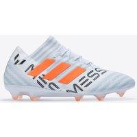 Adidas Nemeziz Messi 17.1 Firm Ground Football Boots - White/solar Orange/clear Grey