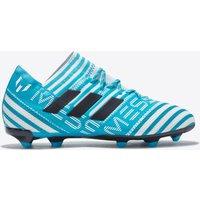 Adidas Nemeziz Messi 17.1 Firm Ground Football Boots - White/legend Ink/energy Blue - Kids
