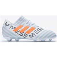 Adidas Nemeziz Messi 17.1 Firm Ground Football Boots - White/solar Orange/clear Grey - Kids