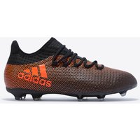 Adidas X 17.1 Firm Ground Football Boots - Core Black/solar Red/solar Orange - Kids