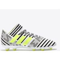Adidas Nemeziz 17.3 Firm Ground Football Boots - White/solar Yellow/core Black - Kids