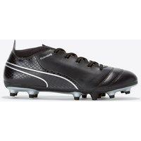 Puma One 17.4 Firm Ground Football Boots - Black/Black/Silver - Kids