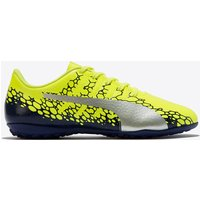 Puma evoPOWER Vigor 4 Graphic Astroturf Trainers - Safety Yellow/Silver/Blue Depths - Kids