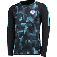 Chelsea Squad Pre-Match Long Sleeve Training Top - Black