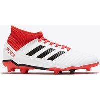 Adidas Predator 18.3 Firm Ground Football Boots - White - Kids
