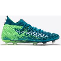 Puma Future 18.1 Netfit Firm Ground Football Boots - Deep Lagoon/White/Green Gecko