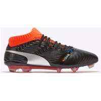 Puma One 18.1 Firm Ground Football Boots - Black/Silver/Red Blast