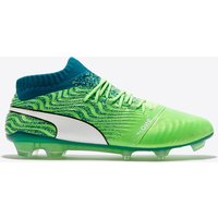 Puma One 18.1 Firm Ground Football Boots - Green Gecko/White/Deep Lagoon
